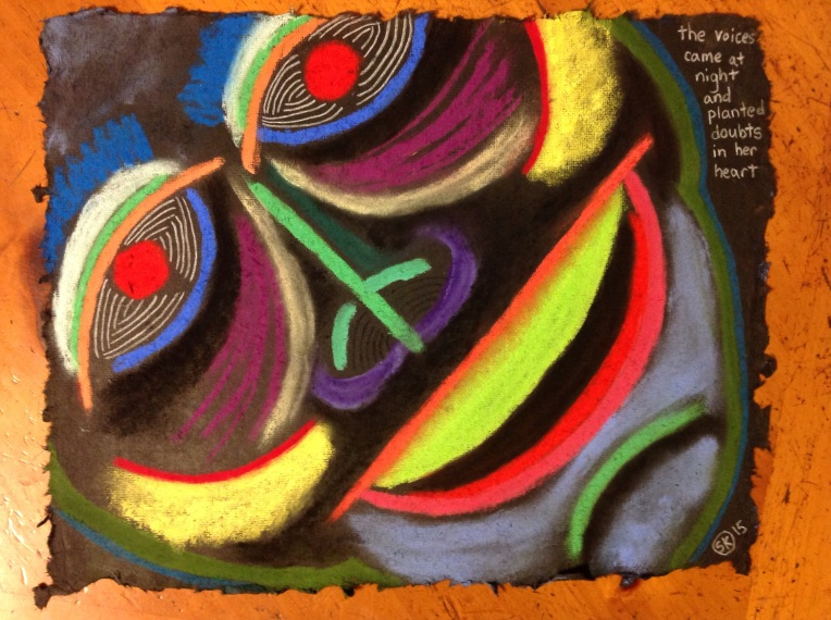 chalk pastel on 8.5 x  11 in. on cotton rag paper. July 19, 2015